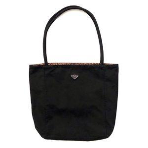 Bottega Veneta Reversible Black Cheetah Nylon Bag